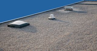 What is a flat roof made of?